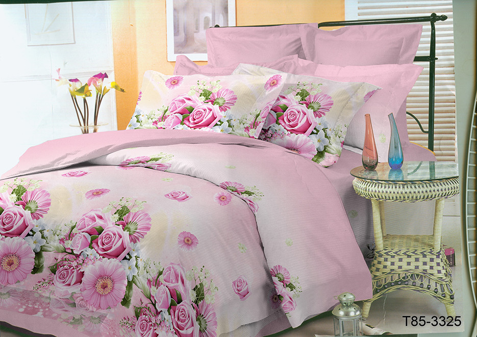 """Двуспальный комплект постельного белья 180*220 из полиэстера """"Розовая нежность"""""""