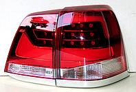 Toyota Land Cruiser LC 200 оптика светодиодная задняя красная LED стиль 2016+