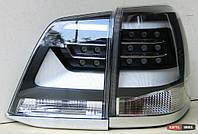 Toyota Land Cruiser LC 200 оптика светодиодная задняя черная LED стиль 2016+