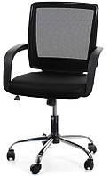 Кресло офисное для персонала VISANO, Black - Chrome Бесплатная доставка