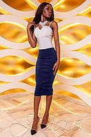 Женская темно-синяя юбка-карандаш Лурдес Jadone Fashion 42-48 размеры