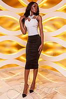 Женская черная юбка-карандаш Лурдес Jadone Fashion 42-48 размеры