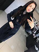 Женское кашемировое пальто с капюшоном осень весна