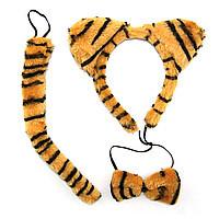 Набор Тигренок (ушки, хвост, галстук-бабочка).