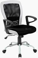 Кресло офисное для персонала LENO, Black - white Бесплатная доставка