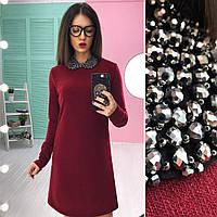 Платье с красивым съёмным воротничком, разные цвета