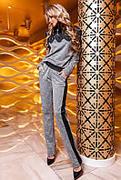 Женский костюм Моренти серый с брюками