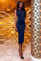 Женское темно-синее платье Розетти Jadone  42-48 размеры