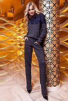Женский костюм Моренти темно-синий с брюками