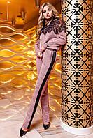 Женский костюм Моренти розовый с брюками