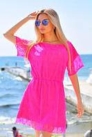 Женское летнее платье мини из гипюра, фото 1