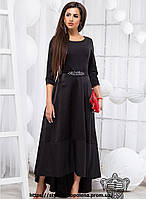 Элегантное платье в пол с карманами