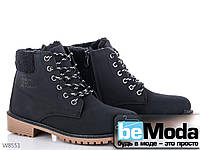Оригинальные женские ботинки Mengfuna модного фасона на низкой подошве с изящными шнурками черные