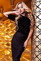 Женская черная блуза Сакси ТМ Jadone  42-48 размеры