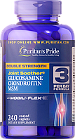 Puritan's Pride Double Strength Glucosamine, Chondroitin & MSM Joint Soother®  240 Caplets