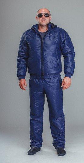 Спортивный костюм мужской плащевка синий