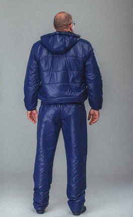 Спортивный костюм мужской плащевка синий, фото 2