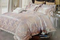 Евро комплект шелкового постельного белья из жаккардового шелка нежно фиолетовый
