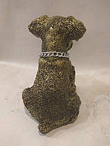 Статуэтка (копилка) щенок Шнауцера золото, фото 2