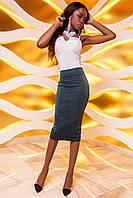 Женска юбка-карандаш Лурдес изумруд