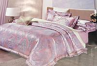 Комплект роскошного, благородного, шелкового постельного белья из жаккардового нежно фиолетовый