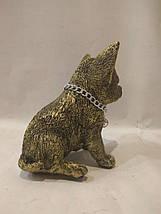 Статуэтка (копилка) щенок Чихуа золото, фото 3