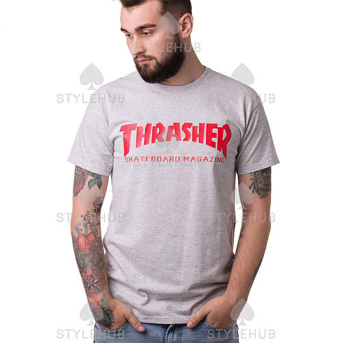 Thrasher Skateboard Magazine футболка серая \ Бирка