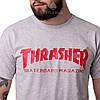Thrasher Skateboard Magazine футболка серая \ Бирка, фото 3