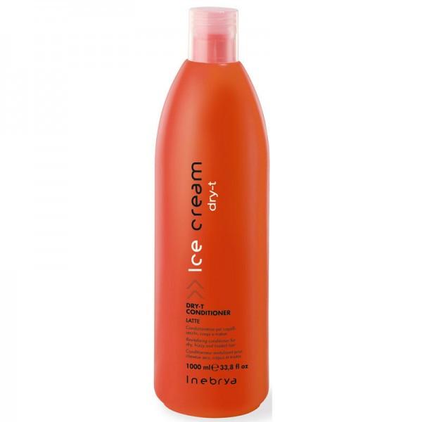 Кондиционер восстанавливающий для сухих и поврежденных волос Dry-t 1000 мл Inebrya