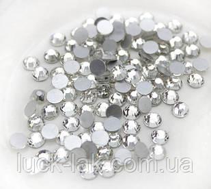 Стрази срібло, 500 шт., скло CRUSTAL LIZED SS6 2 мм