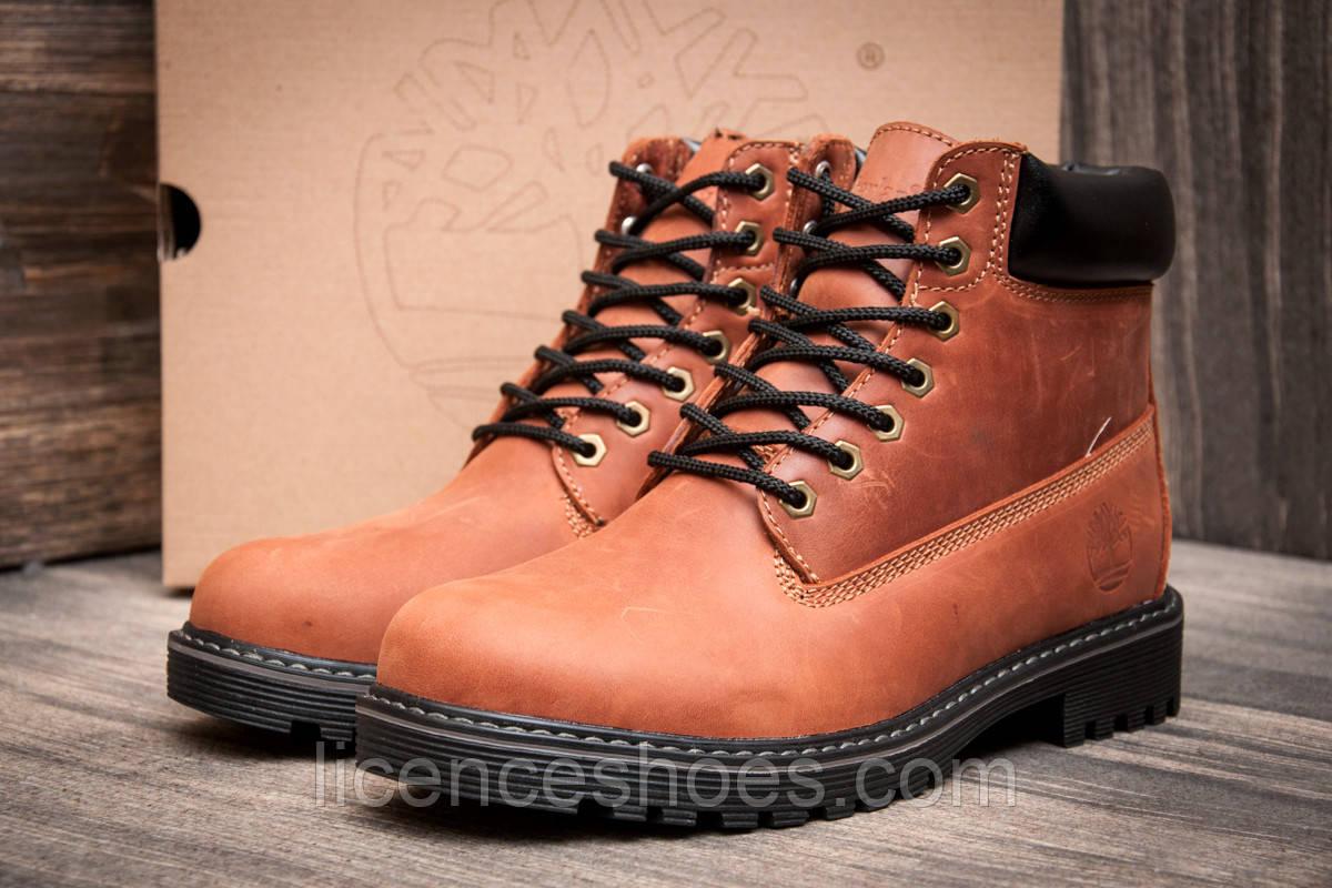 Чоловічі коричневі зимові черевики Timberland. Все натуральне