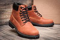 Мужские коричневые зимние ботинки Timberland. Все натуральное