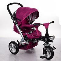 Велосипед-коляска с поворотным сиденьем, надувные колеса M AL3645A-11, фуксия ***