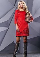 Короткое красное платье 2413