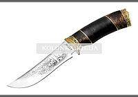 Нож охотничий Медведь (кожа) - кап