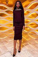 Женский сливовый костюм Карис юбка Jadone Fashion 42-48 размеры