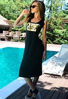 Хлопковая туника-платье черного цвета