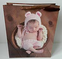 Паперовий пакет3-2407 дитячий Бумажный пакет детский