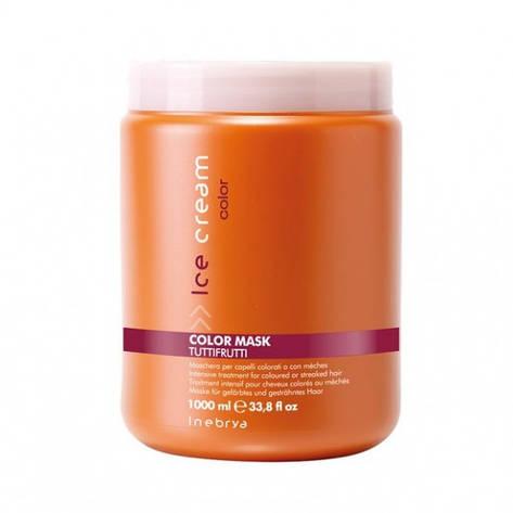 Маска для окрашенных волос Color TUTI FRUTTI INTENSIVE 1000 мл inebrya, фото 2