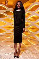 Женский черный костюм Карис юбка Jadone Fashion 42-48 размеры