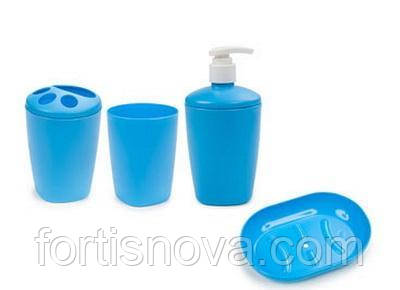 Набор аксессуаров для ванной комнати Aqua (голубой)