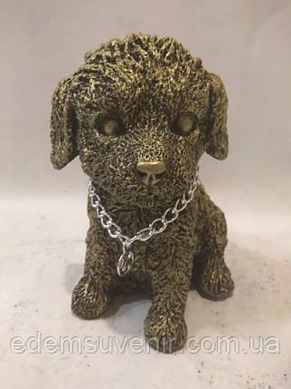 Статуэтка (копилка) щеночек золото, фото 2