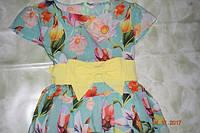 Летнее цветное платье для девочки