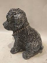 Статуэтка (копилка) щеночек серебро, фото 3
