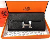 Женский кошелек Hermes (H-567) black