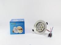 Лампочка LED LAMP 7W Врезная круглая точечная 1403, светодиодная лампа, энергосберегающая лампа