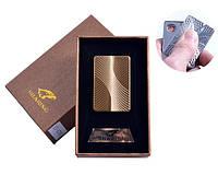 Электроимпульсная зажигалка USB в подарочной упаковке HONEST PZ4701, сувенирная, подарочная, карманная