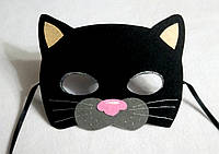 Карнавальная маска  кот черный