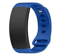 Силиконовый ремешок для фитнес браслета Samsung Gear Fit 2 (SM-R360) - Blue