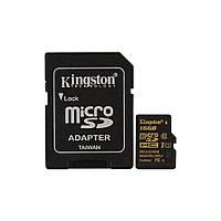Карта памяти Kingston 16GB microSDHC C10 + SD адаптер (SDCA10/16GB)